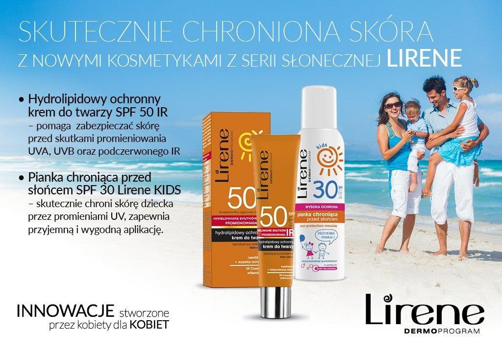 Skutecznie chroniona skóra z nowymi kosmetykami z serii słonecznej Lirene